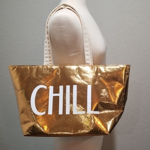 Insulated Gold Chill Bath And Body Works Tote